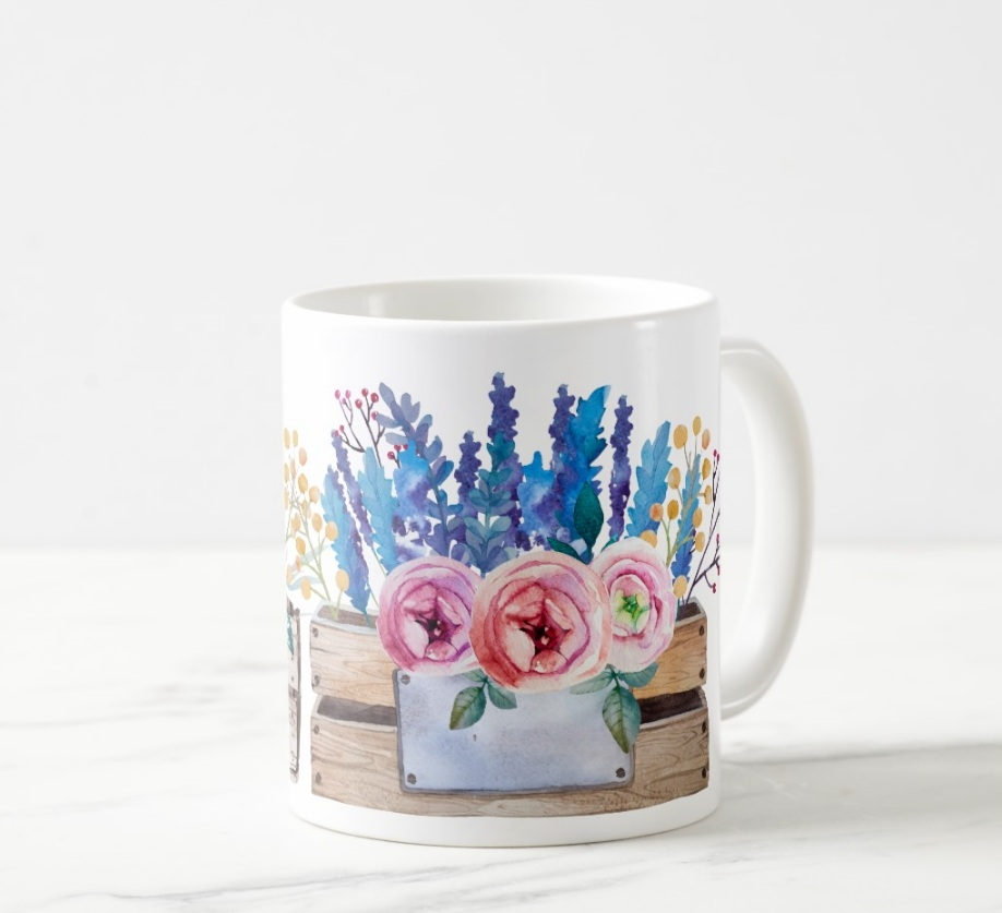 Creative Gifts Floral Design Coffee Mug