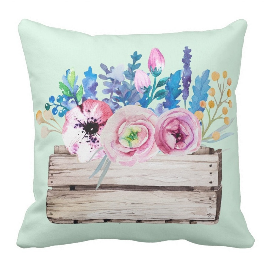 Creative Gifts Decorative Floral Throw Pillow