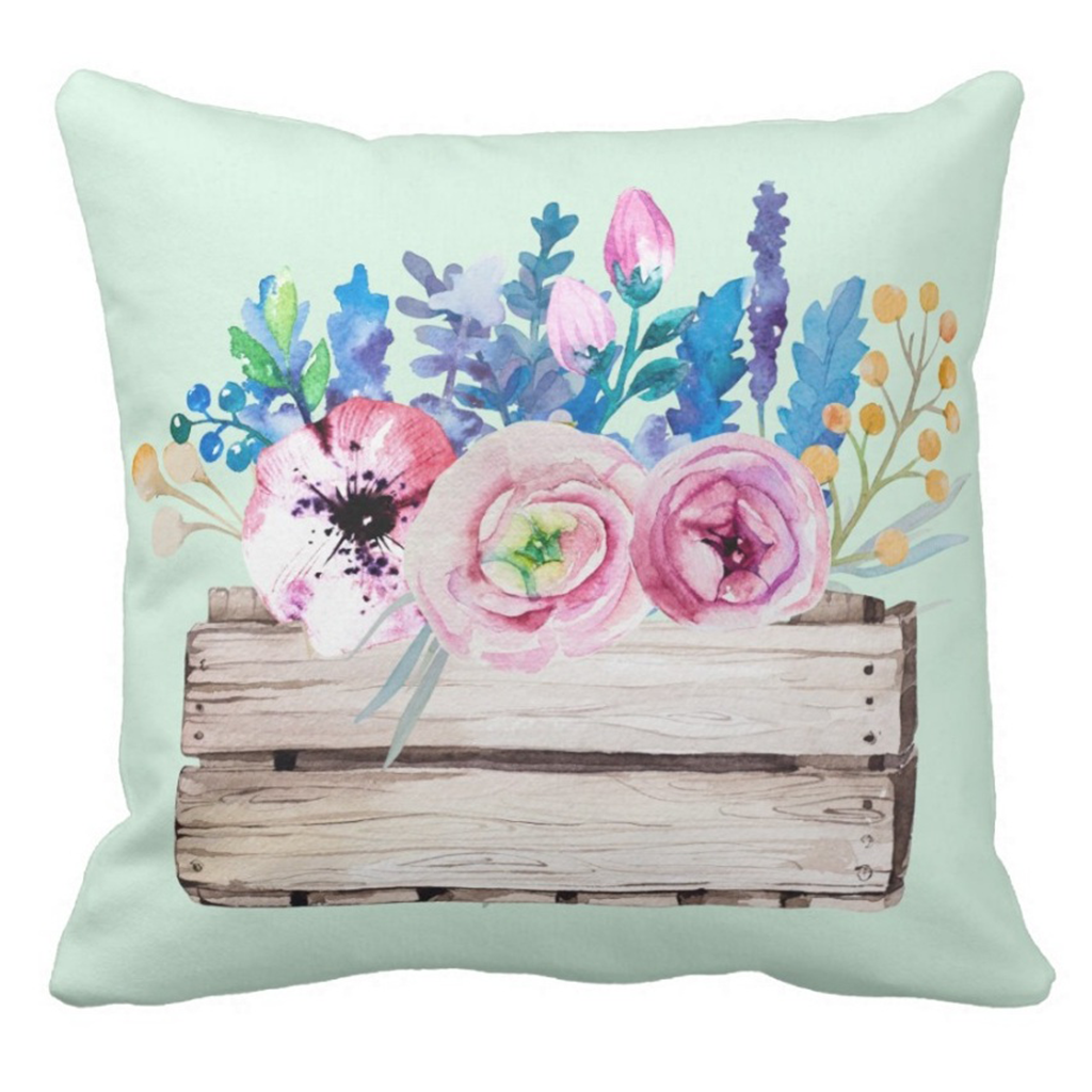 Mint-Floral-Pillow-Zazzle