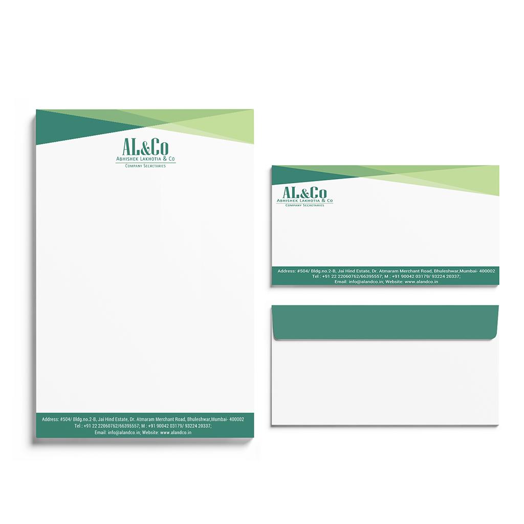 Corporate Stationery Design for AL&Co